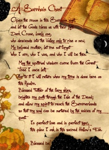 a samhain chant