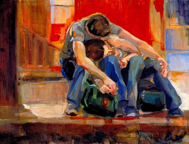 """""""Trust"""" Painting by Lynn Rushton From dallasartsrevue.com"""